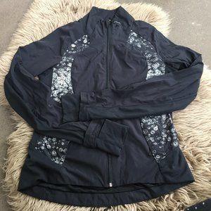 Lululemon black zip running jacket - size 6